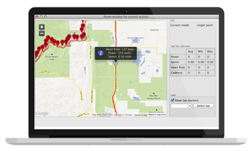 Mac OS fitness application for tracking health and fitness stats