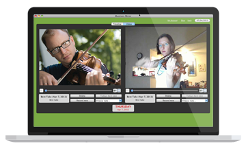 Mac OS video streaming application for musicians
